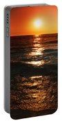 Sundown Reflections On Lake Michigan  01 Portable Battery Charger