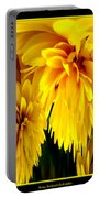 Sunflower Abstract 1 Portable Battery Charger