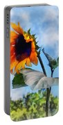 Sunflower Against The Sky Portable Battery Charger by Susan Savad