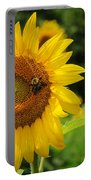Sunflower And Bee II Portable Battery Charger