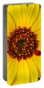 Sunflower And Ladybird Beetle 2am-110490 Portable Battery Charger