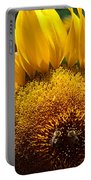 Sunflower And Two Bees Portable Battery Charger