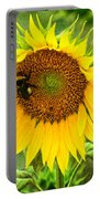 Sunflower And Visitors Portable Battery Charger