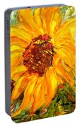 Sunflower Portable Battery Charger by Barbara Pirkle