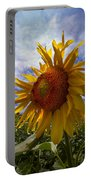 Sunflower Blue Portable Battery Charger by Debra and Dave Vanderlaan