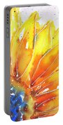 Sunflower Blue Orange And Yellow Portable Battery Charger