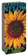 Sunflower Brand Crate Label Portable Battery Charger