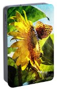 Sunflower Butterfly And Bee Portable Battery Charger