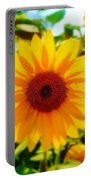 Sunflower Centered Portable Battery Charger