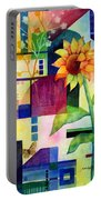 Sunflower Collage 2 Portable Battery Charger