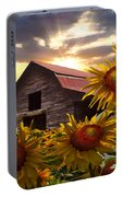 Sunflower Dance Portable Battery Charger by Debra and Dave Vanderlaan