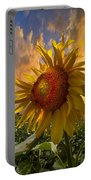 Sunflower Dawn Portable Battery Charger by Debra and Dave Vanderlaan