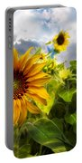 Sunflower Dream Portable Battery Charger by Debra and Dave Vanderlaan