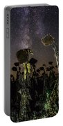 Sunflower Field At Night Portable Battery Charger