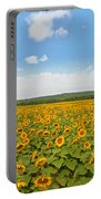 Sunflower Field New Jersey Portable Battery Charger