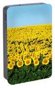 Sunflower Field, North Dakota, Usa Portable Battery Charger