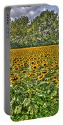 Sunflower Fields Ford World Headquarters Dearborn Mi Portable Battery Charger