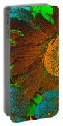 Sunflower In Brown Portable Battery Charger