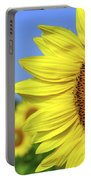Sunflower In Sunflower Field Portable Battery Charger