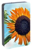 Sunflower In The Sky Portable Battery Charger by Annette Allman