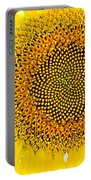 Sunflower In The Summer Sun Portable Battery Charger