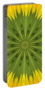 Sunflower Kaleidoscope 3 Portable Battery Charger