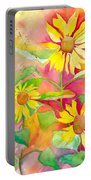 Sunflower Portable Battery Charger by Kelly Perez