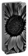 Sunflower In Black And White Portable Battery Charger