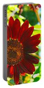 Sunflower - Red Blazer - Luther Fine  Art Portable Battery Charger