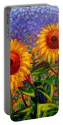 Sunflower Scape Portable Battery Charger