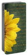 Sunflower Scripture Portable Battery Charger