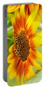 Sunflower Side Portrait Portable Battery Charger