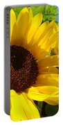 Sunflower Summer Garden Art Prints Portable Battery Charger