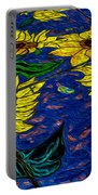 Sunflower Tiled Oil Painting Portable Battery Charger
