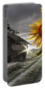 Sunflower Watch Portable Battery Charger by Debra and Dave Vanderlaan