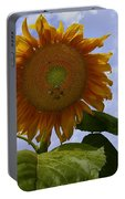 Sunflower With Busy Bees Portable Battery Charger