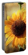 Sunflower With Texture Portable Battery Charger