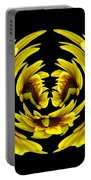 Sunflower With Warp And Polar Coordinates Effects Portable Battery Charger