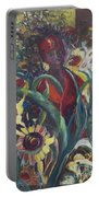 Sunflower Woman #1 Portable Battery Charger