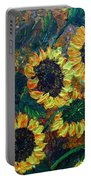 Sunflowers 2 Portable Battery Charger
