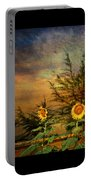 Sunflowers Portable Battery Charger by Adrian Evans