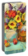 Sunflowers And Copper Portable Battery Charger