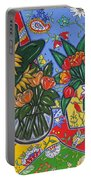 Sunflowers And Poppies Portable Battery Charger