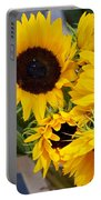 Sunflowers At Market Portable Battery Charger