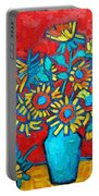Sunflowers Bouquet Portable Battery Charger