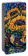 Sunflowers Bouquet In Vase Portable Battery Charger