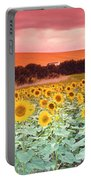 Sunflowers, Corbada, Spain Portable Battery Charger