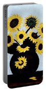 Sunflowers Expressive Brushstrokes Portable Battery Charger
