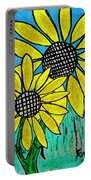 Sunflowers For Fun Portable Battery Charger