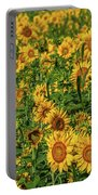 Sunflowers Helianthus Annuus Growing Portable Battery Charger